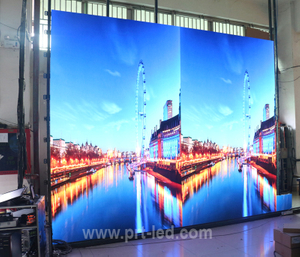 Pantalla de visualización a todo color LED de servicio frontal P1.923 con panel de fundición a presión 400X300 mm