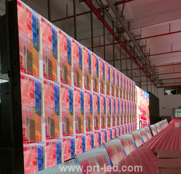 Pared de video LED a todo color para interiores P4 con acceso frontal por imanes